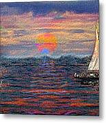 Sailing While Dreaming Metal Print