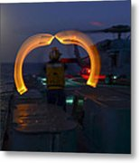 Sailor Signals Metal Print