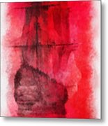 Sailor Take Warning Photo Art 01 Metal Print