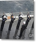 Sailors Fire A 21-gun Salute Metal Print