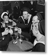 Sailors Toasting In Celebration Of Victory Metal Print