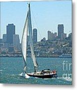 Sailors View Of San Francisco Skyline Metal Print