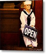 Sailors Welcome Cropped Metal Print