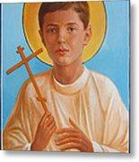 Saint Alexei Oil Icon On Wood. Tsarevich  Passion-bearer Metal Print