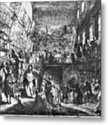 Saint-aubin Louvre, 1753 Metal Print