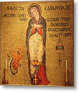 Saint Catherine Of Alexandria Altar Metal Print