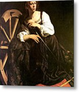 Saint Catherine Of Alexandria Metal Print by Caravaggio