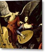 Saint Cecilia And The Angel Metal Print
