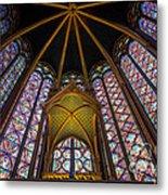 Saint Chapelle Windows Metal Print