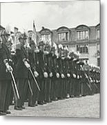 Saint Cyr Cadets At Ecole Polmtechnique Metal Print