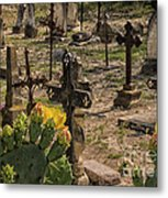 Saint Dominic Cemetery At Old D'hanis Texas Metal Print
