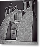 Saint Francis In Black And White Metal Print