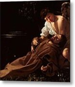 Saint Francis Of Assisi In Ecstasy 2 Metal Print by Caravaggio
