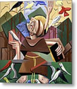 Saint Francis Sermon To The Birds Metal Print by Anthony Falbo