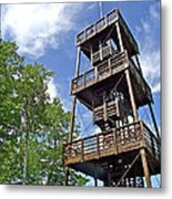 Saint Francois Observation Platform On Ile D'orleans-qc Metal Print