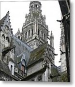 Saint Gatien's Cathedral Steeple Metal Print