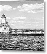 Saint Joseph Lighthouse Retro Panoramic Photo Metal Print