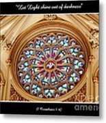 Saint Josephs Cathedral Stained Glass Window Buffalo New York Metal Print