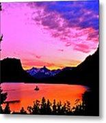 Saint Mary Lake Twilight Metal Print