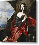 Saint Mary Magdalene In The Desert Metal Print