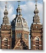 Saint Nicholas Church In Amsterdam Metal Print