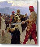 Saint Nicholas Of Myra Saves Three Innocents From Death Metal Print