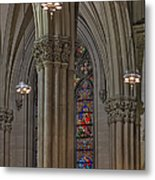 Saint Patrick's Cathedral Stained Glass Window Metal Print