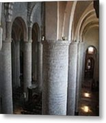 Saint Philibert Church Interior Burgundy Metal Print