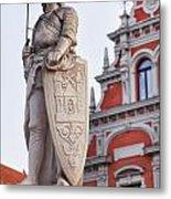 Saint Roland I Riga Old Town Metal Print