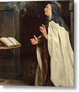 Saint Teresa Of Avila's Vision Of The Holy Spirit Metal Print
