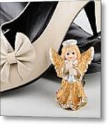 Saint Valentine Angel With Two Shoes Metal Print
