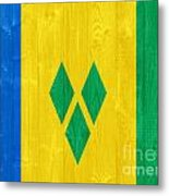 Saint Vincent And The Grenadines Flag Metal Print
