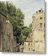 Saint-vincent Street, Montmartre Oil On Canvas Metal Print