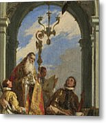 Saints Maximus And Oswald Metal Print