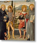 Saints Nicholas Of Tolentino Roch Sebastian And Bernardino