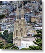 Saints Peter And Paul Church In San Francisco Metal Print