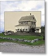 Sakonnet Point In Little Compton Rhode Island Metal Print