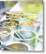 Salad Bowls With Mixed Fresh Vegetables Metal Print