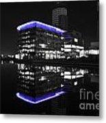Salford Quay Reflection Metal Print