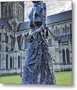 Salisbury Cathedral And The Walking Madonna 2 Metal Print