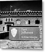 Sally Port Entrance To Fort Jefferson Dry Tortugas National Park Florida Keys Usa Metal Print by Joe Fox