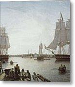 Salmon, Robert 1775-1845. Boston Metal Print