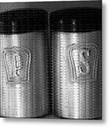 Salt And Pepper Shakers Metal Print