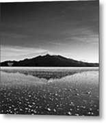 Salt Cloud Reflection Black And White Metal Print