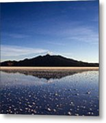 Salt Cloud Reflection Metal Print