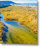 Salt Creek Near Salt Creek Trail In Death Valley National Park-california Metal Print