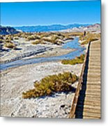 Salt Creek Trail Boardwalk In Death Valley National Park-california  Metal Print