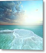 Salt Field In Dead Sea Metal Print
