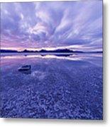 Salt Flats After Dark Metal Print