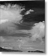 Salt Flats Clouds Metal Print